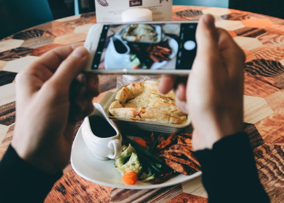 A VSCO edit of a pie dish from Henry's in Cardiff