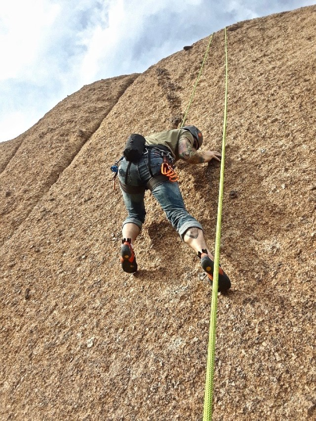 Pinnacle Peak rock climbing