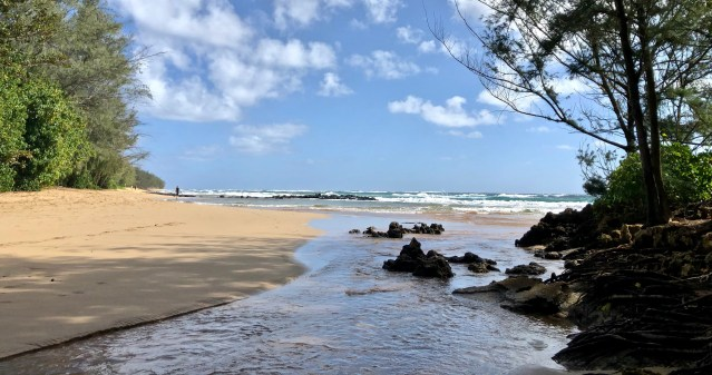 MAHA'ULEPU BEACH IN KAUAI