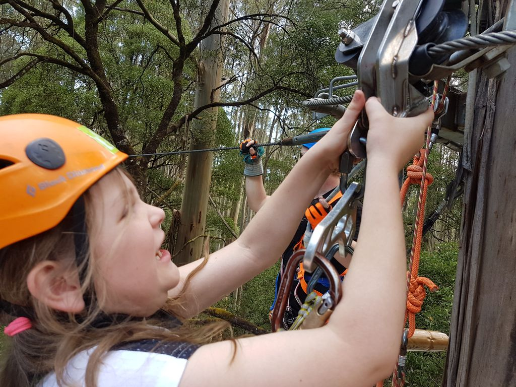 Otway Fly Treetop Adventures - Mia can do it