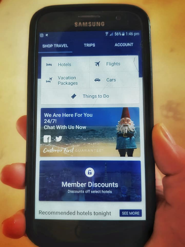 Travelocity app - in your hand