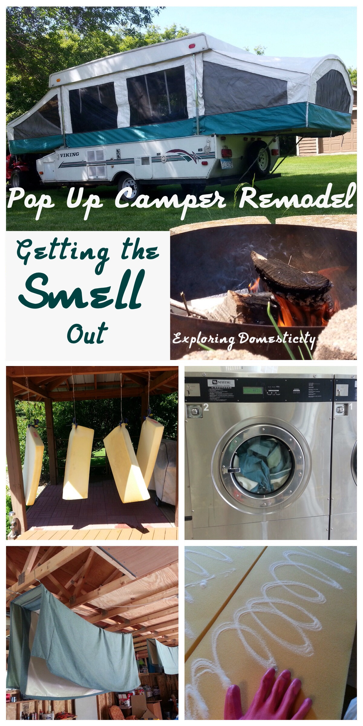 Pop Up Camper Remodel Getting The Smell Out Exploring