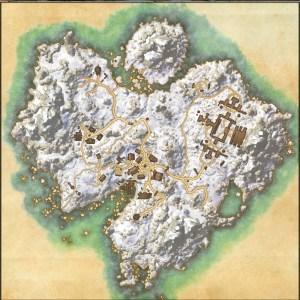 The maps of the Elder Scrolls Online - Bleakrock Isle