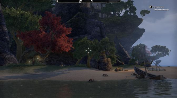 Secret crafting spot - Eastshore Islets Camp from the water