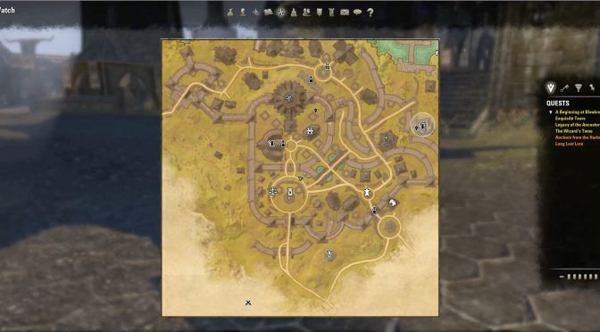 How to read an ESO Map - Map with icons
