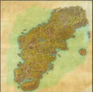 The maps of the Elder Scrolls Online - Glenumbra