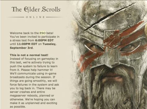 Exploring the Elder Scrolls beta history Invite to Stress Test Beta