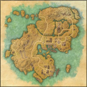 The maps of the Elder Scrolls Online - Stros M'Kai