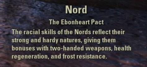 Exploring the Elder Scrolls Online - Nord Description
