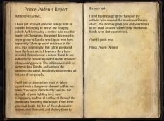 The Books of the Elder Scrolls Online - Prince Aiden's Report