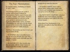 The Books of the Elder Scrolls Online -The Four Abonimations