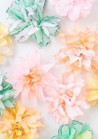 Tissue Flower Garland