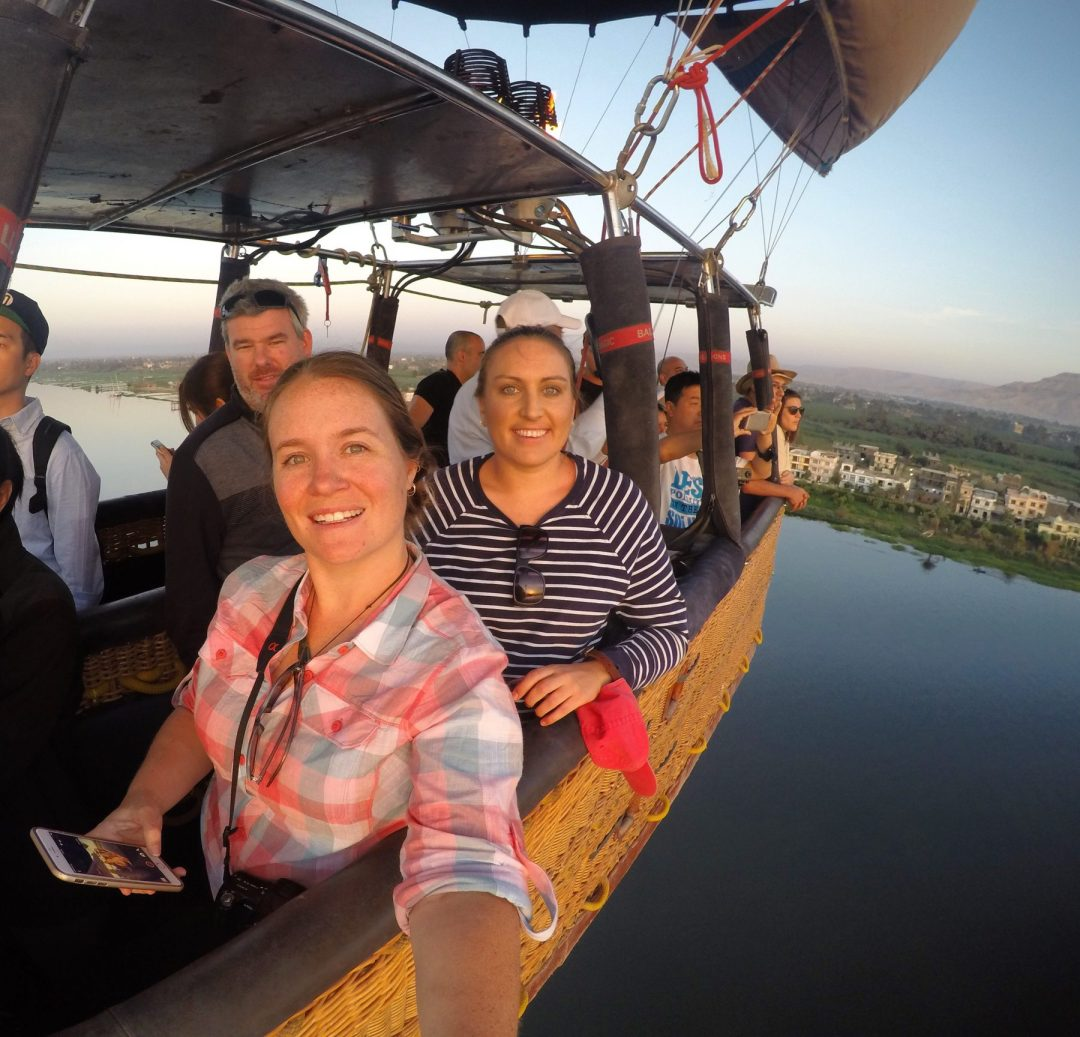 Hot air balloon nile egypt