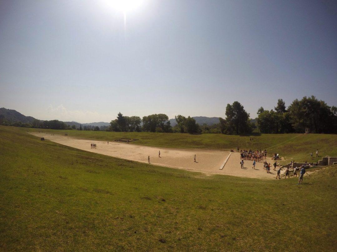 Ancient Olympia stadium