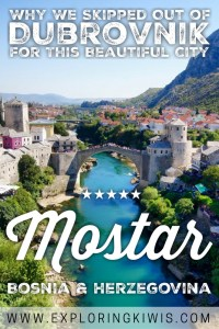 When everything that could go wrong in Dubrovnik did, we moved on to Mostar in Bosnia. Find out why we left Croatia and fell in love with Mostar!