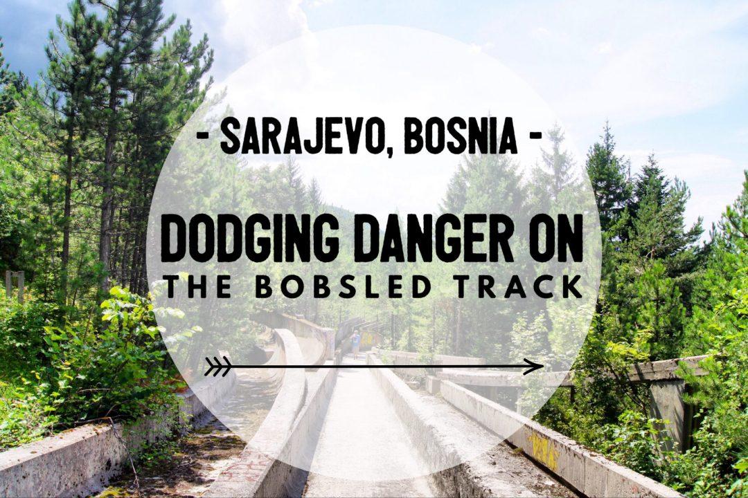 Sarajevo old olympic bobsled track exploring kiwis