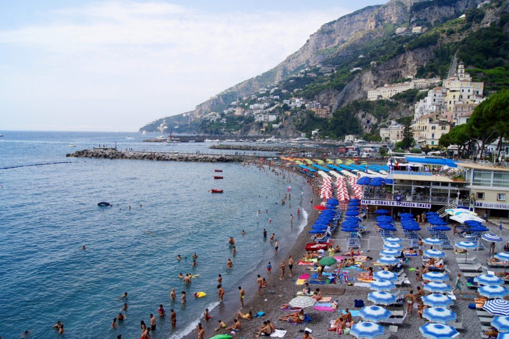 Amalfi beach umbrellas
