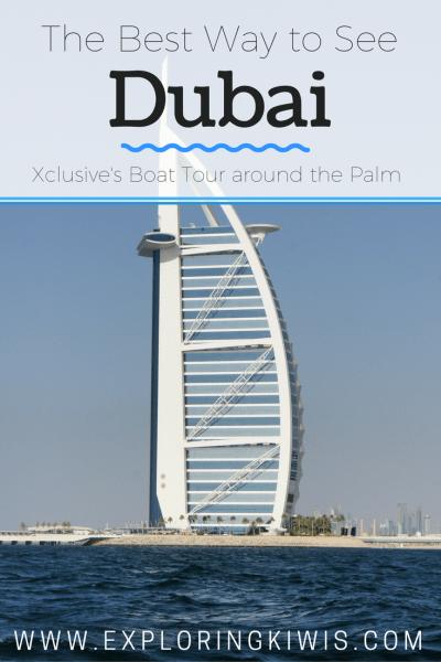 Xclusive Tours boat trip Palm Dubai