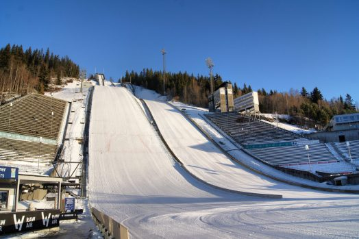 Ski Jump Lillehammer Touring Cars Norway