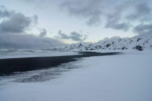 Snæfellsnes Peninsula Moonwalker Tours Iceland Dritvik Djúpalónssandur black sand beach snow winter