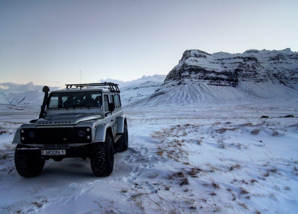 Snæfellsnes Peninsula Moonwalker Tours Iceland 4wd vehicle Kirkjufell & Kirkjufellsfoss