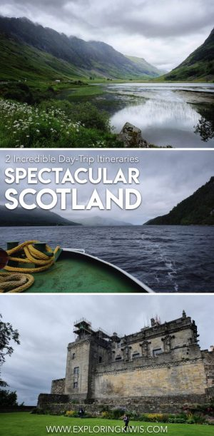 Looking for tours in Scotland?  Leaving from Edinburgh, join us as we share our two day itinerary to Glencoe, Stirling Castle, Loch Ness, The Kelpies, Trossachs National Park and much more!