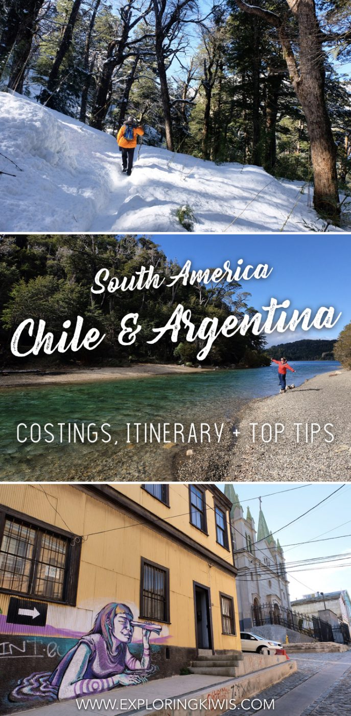 Headed to Chile and Argentina? Read our itinerary, transport guide, costings and top tips to help make the most of your South America travels.  Whether you\'re working as a digital nomad or are on vacation, this will help you plan your trip!