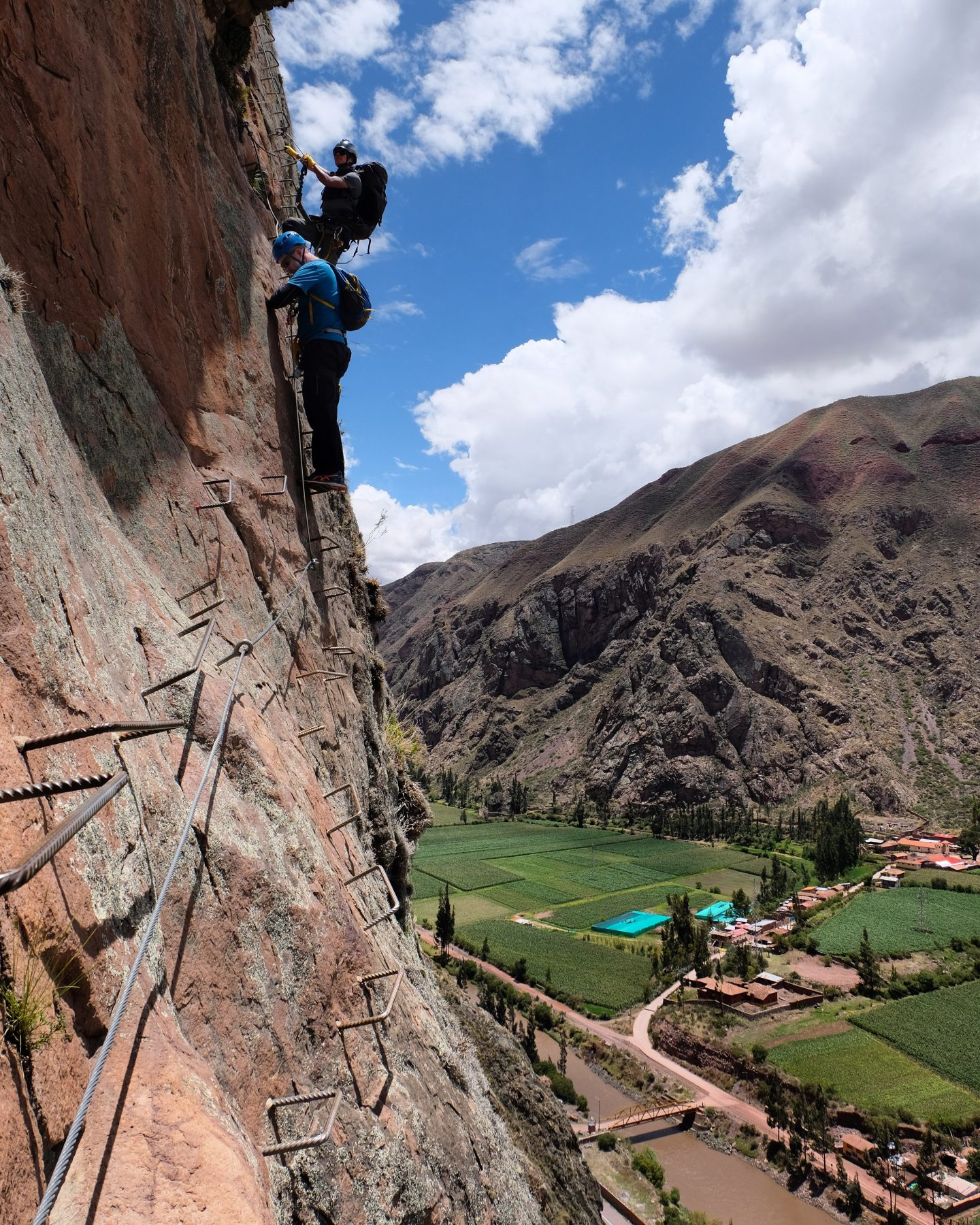 Via ferrata, Sacred Valley, Peru