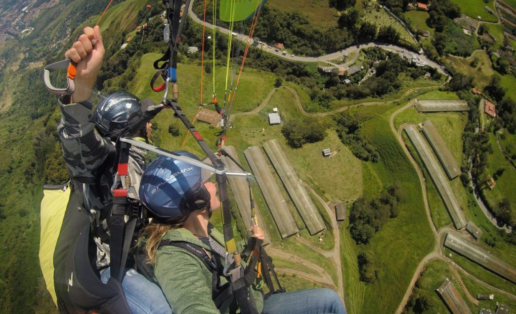 paragliding in Medellin, Colombia