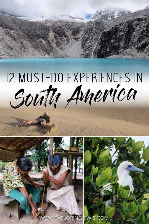 We\'ve got the top 12 activities you have to do whilst visiting South America!  After backpacking for six months, we\'ve got the best adventures that need to be on your itinerary when planning a trip to Peru, Bolivia, Colombia, Ecuador Chile and Argentina - happy travels!