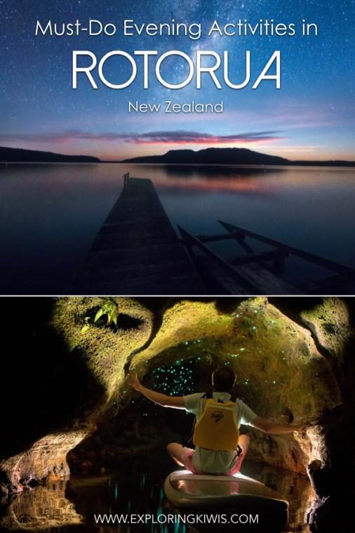 Best activities in Rotorua   New Zealand   North Island   Itinerary ideas   Vacation planning   Night time activites   Polynesian Spa   Glow Worm Tour   Astrophotography   Tree Walk #Rotorua #newzealand #travel