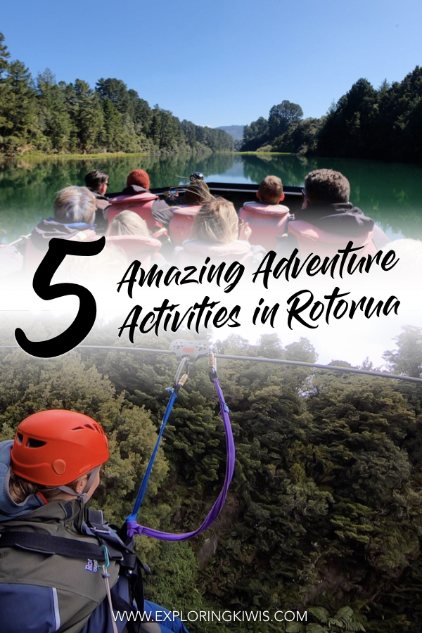 Rotorua is the adventure capital of New Zealand\'s North Island and these five activities are the best of the best.  Prepare for serious fun, stunning natural scenery and a great dose of adrenaline as you prepare for your next trip.  Are you up to the challenge? #rotorua #newzealand #travel