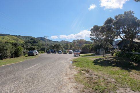 The Whangapoua carpark