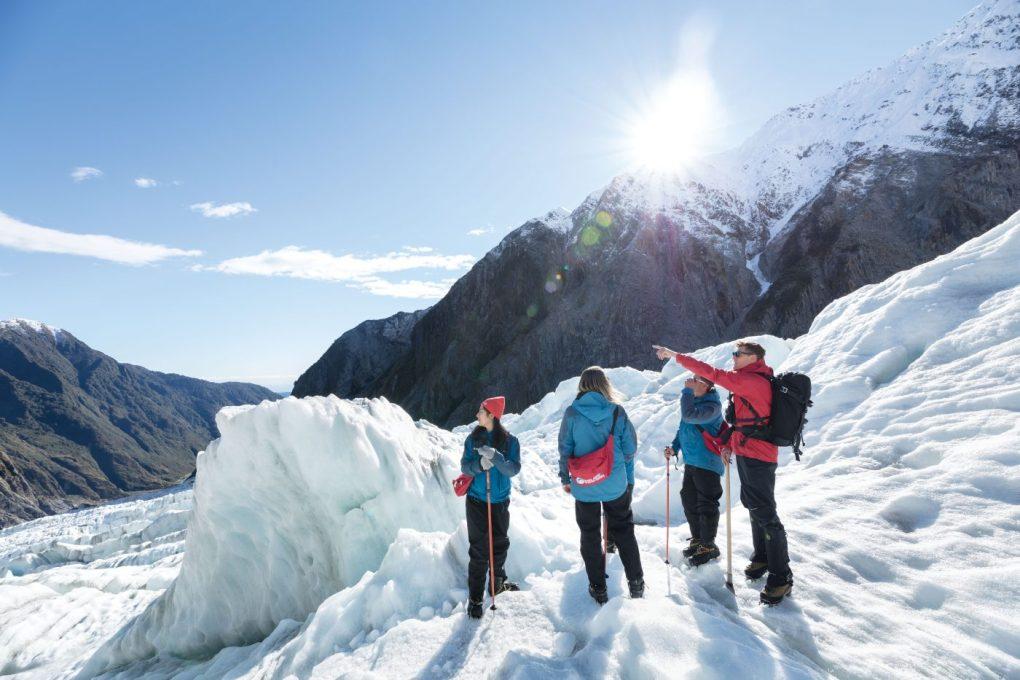 Heli hiking glaciers South Island NZ