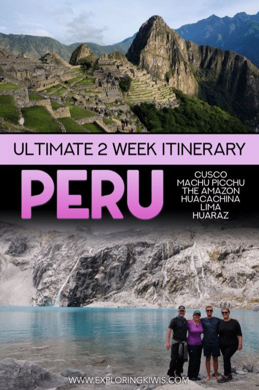 Find out how to spend two amazing weeks in Peru! This 2 week Peru itinerary shares the best places to visit, transport recommendations and all of the tips you need to make your visit to South America one to remember. #Peru #travel