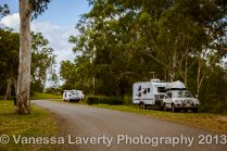 There is heaps of space for caravans and camper trailers - this is just a small part of what's available