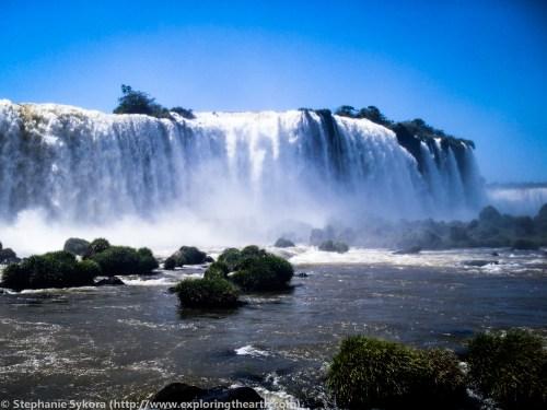Iguazu Iguassu Iguasu Falls Brazil Rainfores Waterfalls rainbow adventure travel 7 wonders of world South America