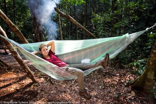 Amazon Rainforest hammock sleeping Brazil forest jungle adventure travel jungle South America
