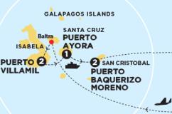 Map, Galapagos, Contiki, Islands
