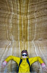 Maria Island, Maria, Tasmania, Australia, geology, travel, blog, adventure, hiking, exploring, earth, science, rocks, nature, geomorphology, painted cliffs, sandstone leisegang, iron-oxide, bands, rings