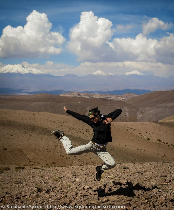 Chile, South America, geology, travel, blog, adventure, hiking, exploring, earth, science, rocks, nature, geomorphology, volcanoes, volcano, copper, gold, porphyry, deposit, large, ore, metals, Atacama desert, Northern Chile, Andes, mountains, chile, jumping, volcanoes