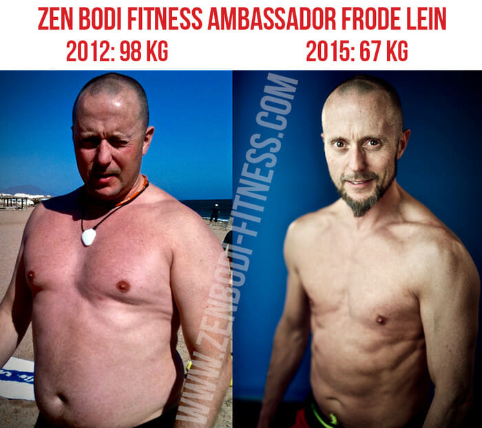 Frode Lein before and after