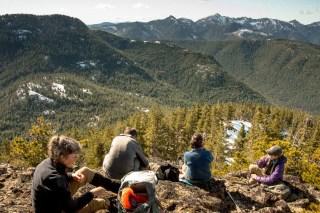 Island Mountain Ramblers, sunning on McKay Peak