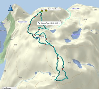 Rodgers Ridge Map and GPS Route