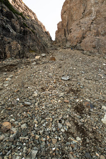 long choss gully which leads to H'Kusam's Ridge