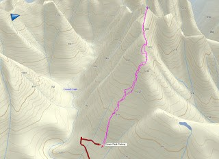 Queen Peak, Vancouver Island Map and GPS Route