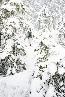 Snowshoeing up Mt Russell on Vancouver Island