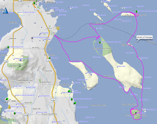 Gulf Island Map and GPS route