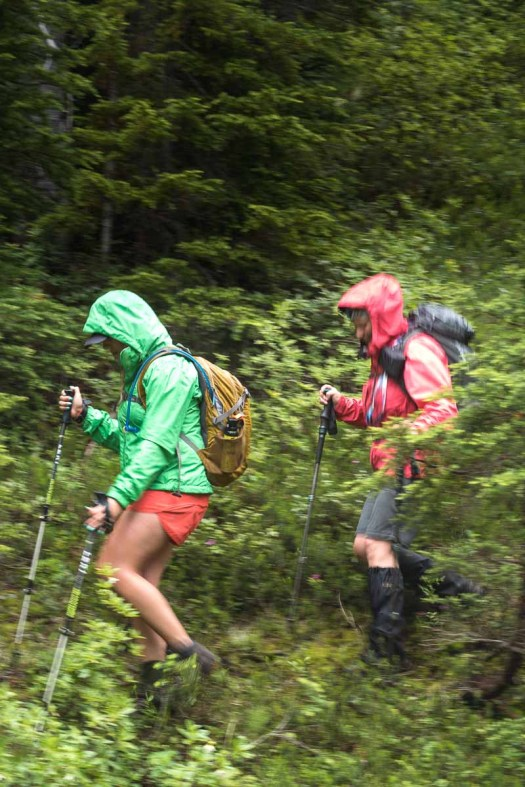 Being wet is all part of the fun, on our Rodgers Ridge hike!