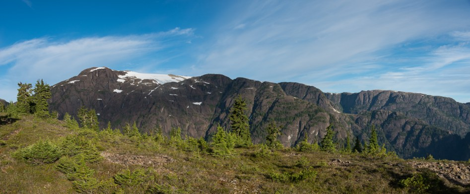 Comox Glacier as seen from the Frog Ponds Route ridge.